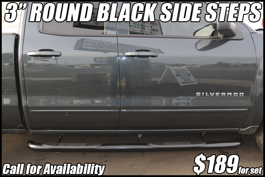 3 inch round black nerf bars truck running boards in tucson arizona
