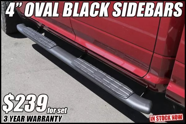 4 inch oval black nerf bars in tucson arizona