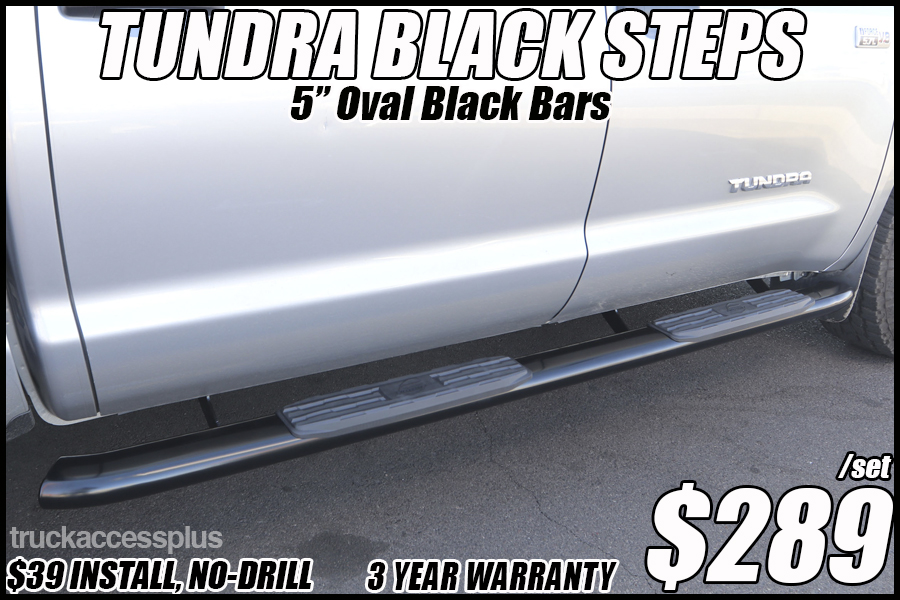 toyota tundra black running boards tucson