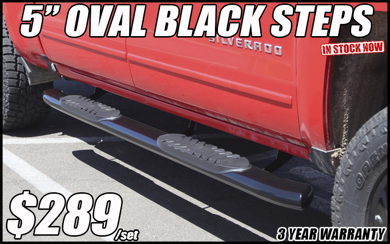 5 inch oval black running boards in tucson arizona