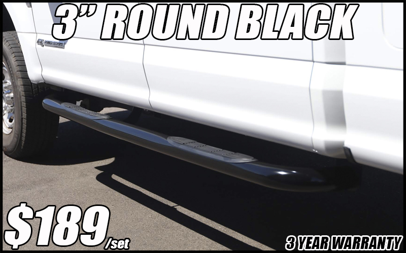 3 inch round black nerf bars in tucson arizona running boards