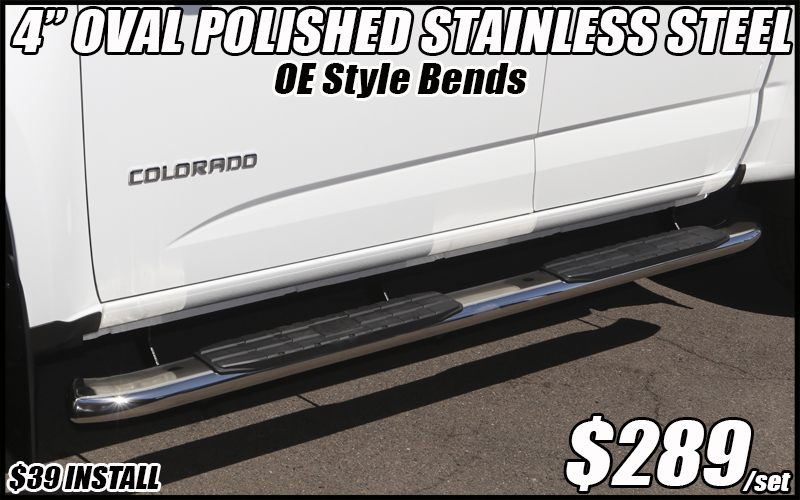 4 inch oval stainless steel nerf bars truck running boards tucson arizona